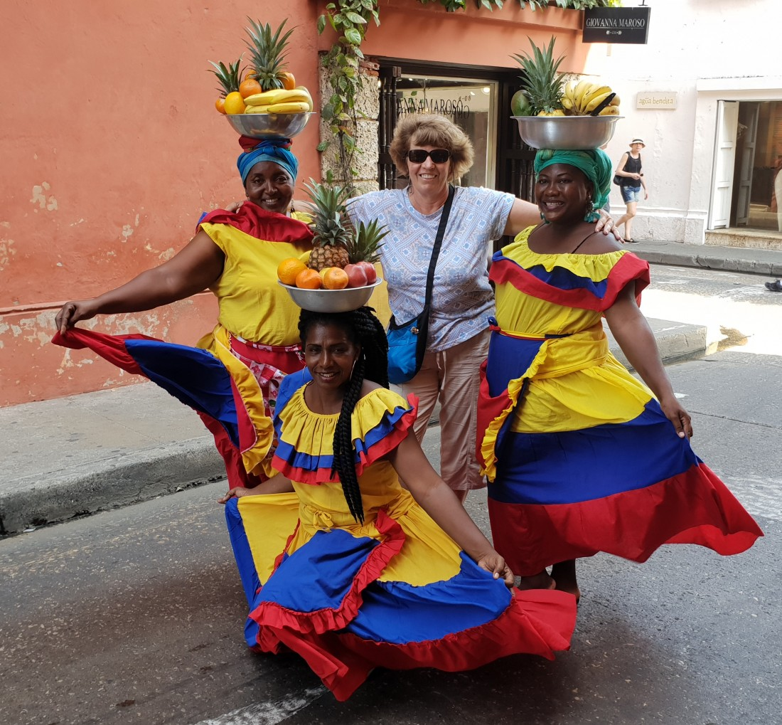 The Palenqueras, colourfully dressed Afro-Colombian ladies