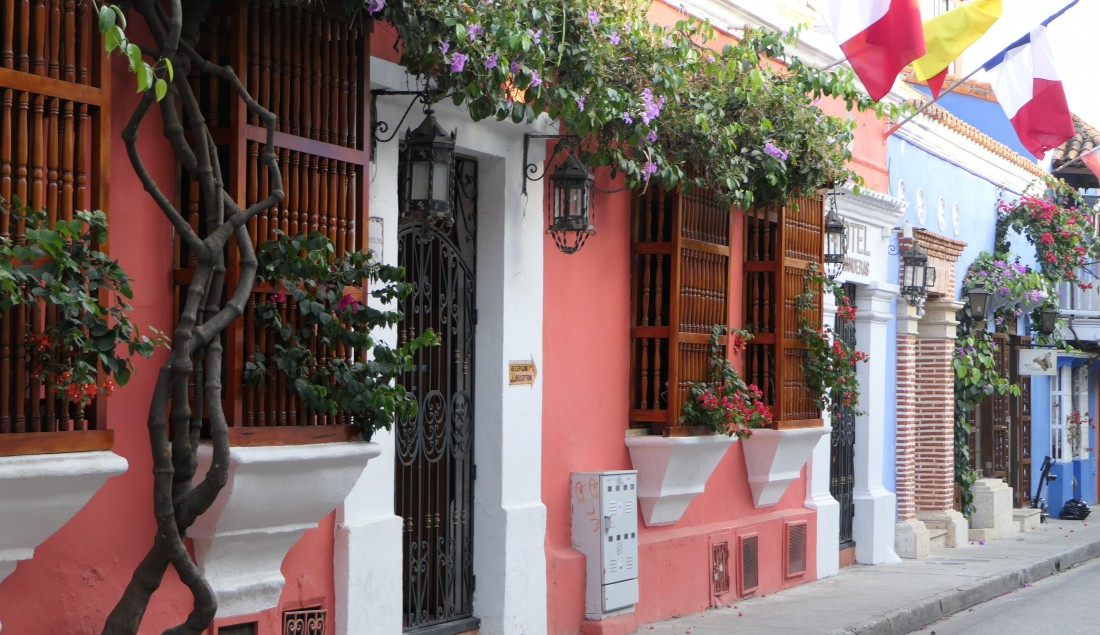 The iconic streets of Cartagena.