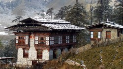 Typical Bhutanese home