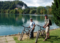 Cycling around Lake Bled, Slovenia