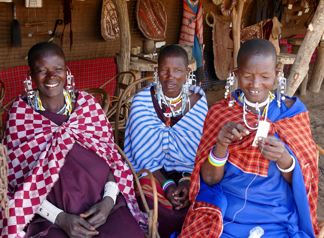 Three lovely ladies at the Masai Village
