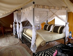 A tented-camp, each room with private facilities