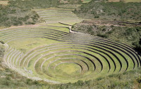 The agricultural  terraces at Moray, the Sacred Valley,  Peru