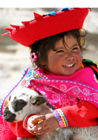 Andean child,  the Altiplano,  Peru