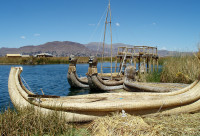 The Uros Floating Islands, Lake Titicaca, Peru