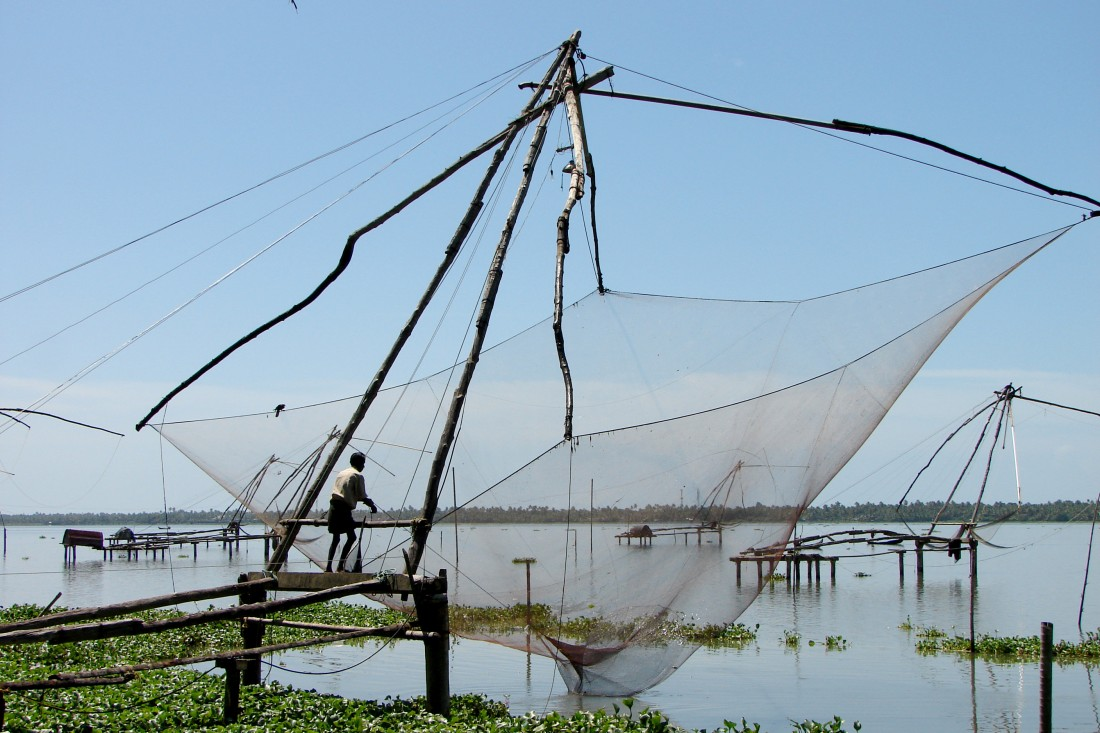 A traitional  fishing net, Cochin-Kerala