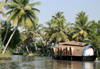 Rice barge on the Backwaters, Kerala