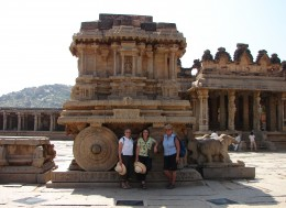 The famous Chariot at the Hampi Ruins - Karnataka