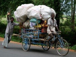 Shifting the load, a common sight in India