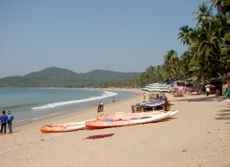 Beautiful Palolem beach, Goa