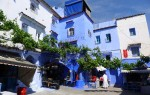 The buildings of Chefchaouen are painted in traditional blue & white.
