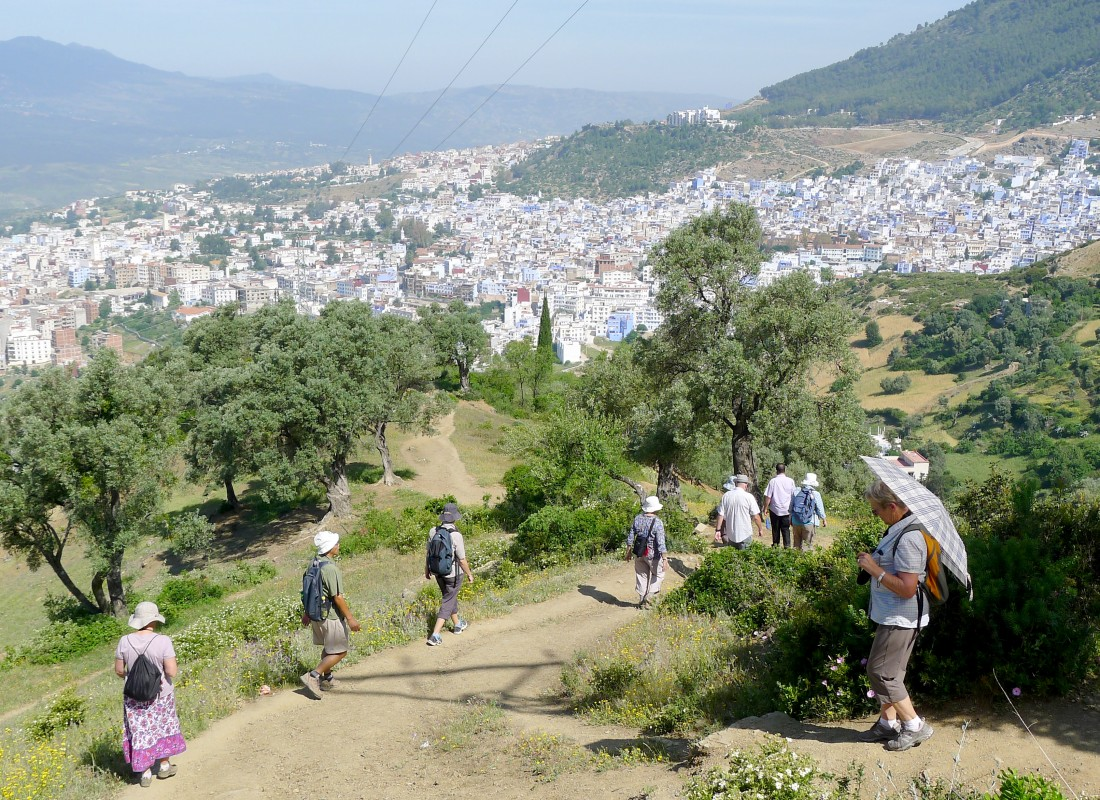 Hiking in the hills behind Chefchaouen,  Morocco