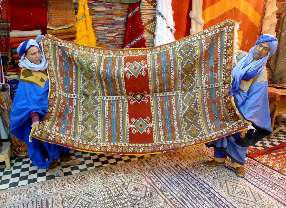Carpets and weavings,  Morocco