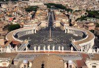 View from the roof of St Peters, Rome
