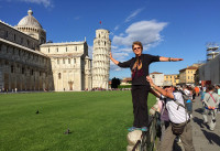 "Someone has to ""hold up""  the Leaning Tower of Pisa"