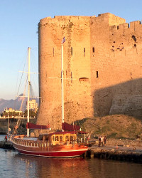The ancient harbour of Kyrenia, Northern Cyprus